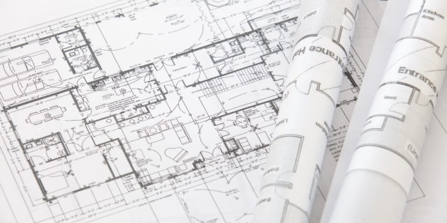 25016407 - architect rolls and plans architectural plan